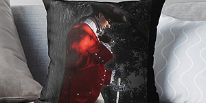Highwayman Claret Velvet Pillow